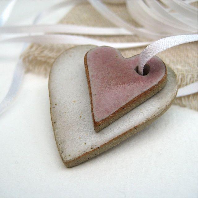 Ceramic Heart Decorations by Jude Allman, via Flickr