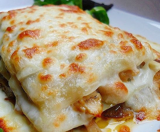 soydecuchara | Lasaña de Pollo de Corral y Setas (Gluten & Dairy Free)
