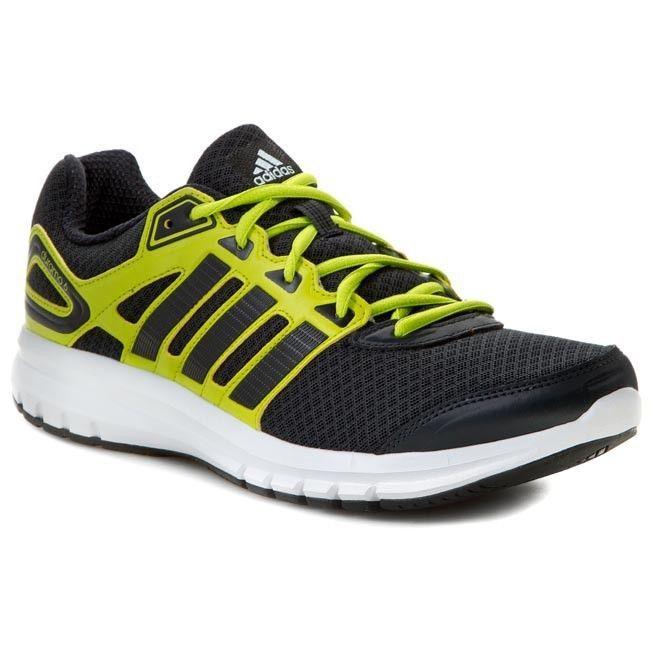 Adidas Duramo 6 Men Running Shoes Cross Training Dark Grey/Core  Black/Yellow #
