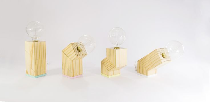 Modular lamp - Twistcube lamp - wood lamp www.ironandwood.es
