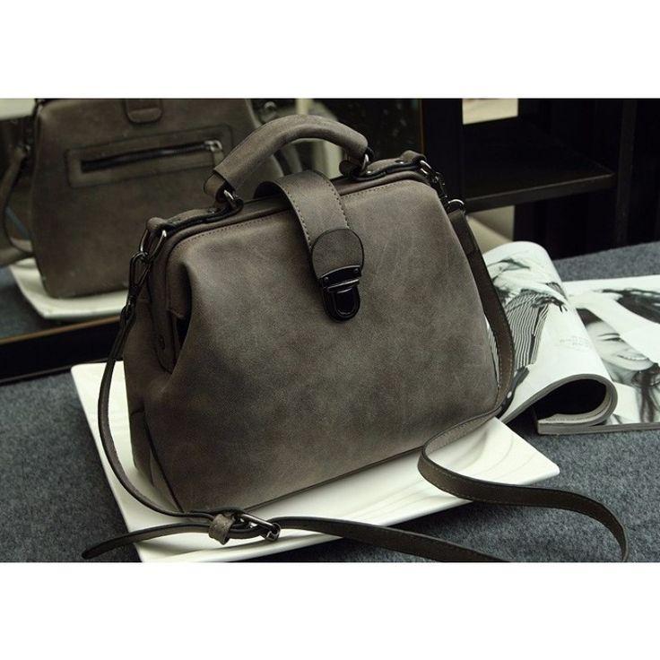 Vintage Schulter Crossbody Tasche Handtasche Grau