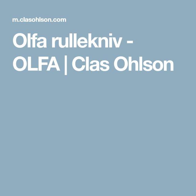 Olfa rullekniv - OLFA | Clas Ohlson