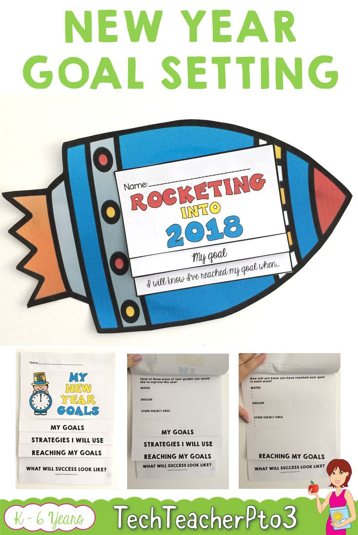 Goal setting can be difficult to do with younger students and older kids need something more specific to aim towards. The rocket flip book is perfect for younger grades to create ONE goal to work towards and looks fantastic as a well display. Older students will enjoy the flip book and setting THREE goals with strategies to get there. #newyear #goalsetting #teacherspayteachers #goals #classroom #teacher #student