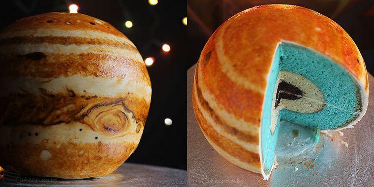 Incredible spherical Jupiter cake - Lost At E Minor