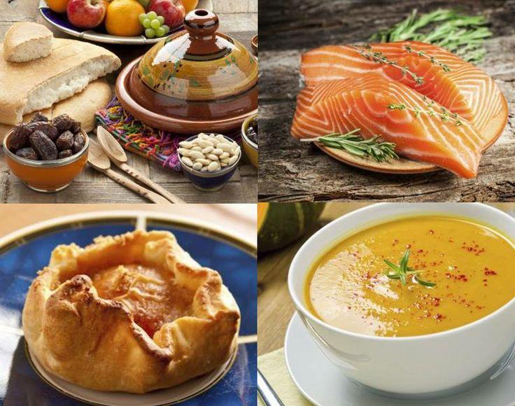 Tijd voor de wekelijkse keukeninspiratie. Lekker smullen van tajine met kip, gegrilde zalm met kappertjes, een appelsoes of gevulde aardappelsoep.  Eet smakelijk! http://www.gezondheidsnet.nl/wat-eten-we-vandaag