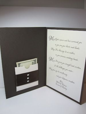 -: Wedding Cards - Cute money pocket ! Love the pocket, could put gift card in there also, for any occasion.