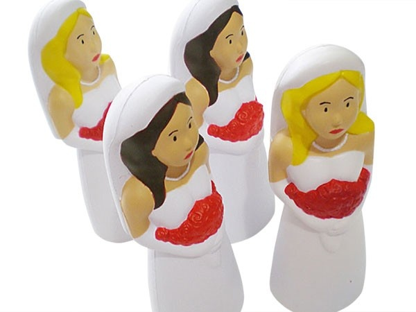 Bride Stress relief doll - comes Blonde or Bruntette to match your Bride! $5.95