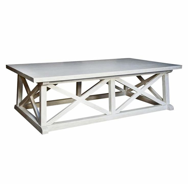 Luc Coastal Beach White Wash Coffee Table Home Beaches And Coffee