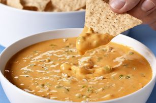 VELVEETA® Spicy Buffalo Chicken Dip Recipe - Great for football season. Just needs more buffalo wing sauce for a stronger kick of flavor!