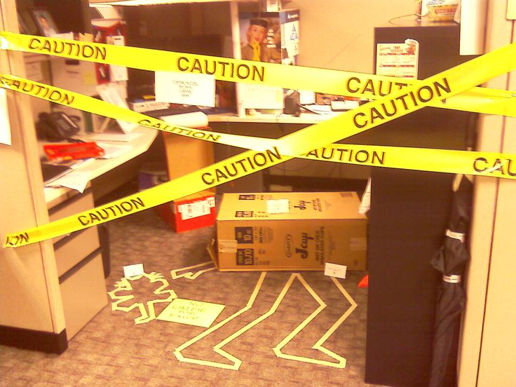Crime Scene Cubicle Hilaroious Would Be Great For A Joke