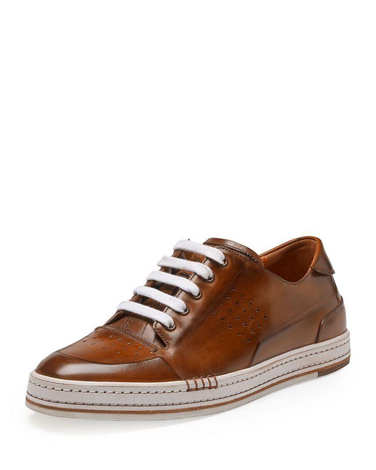 brown leather sneakers - Berluti