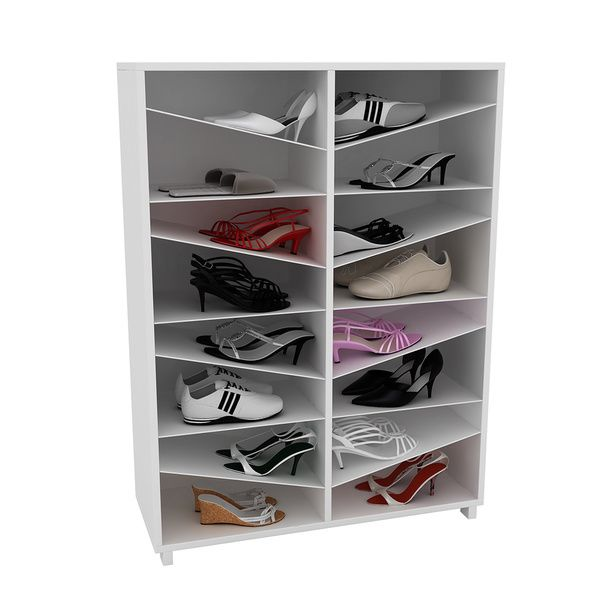 "Accentuations by Manhattan Comfort Sophisticated Navarra ""Z"" Shoe Closet with 8 Shelves"