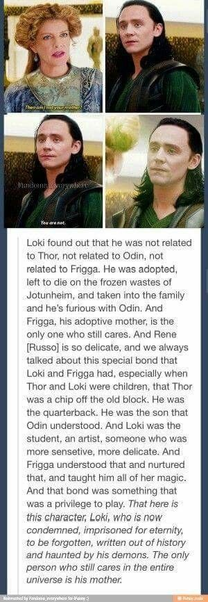 I'm so glad they put that in there and also how much Loki loves her back to get vengeance for her death...