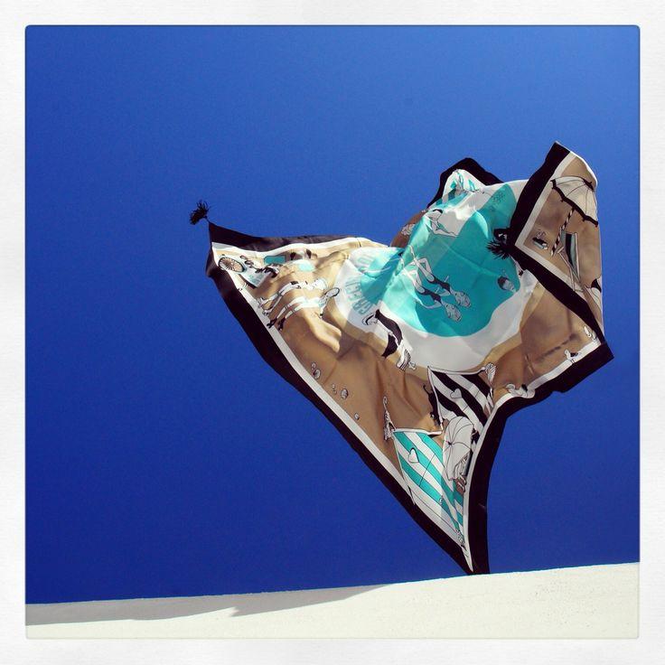 """""""Grecian Holidays"""" silk scarf by Grecian Chic!"""