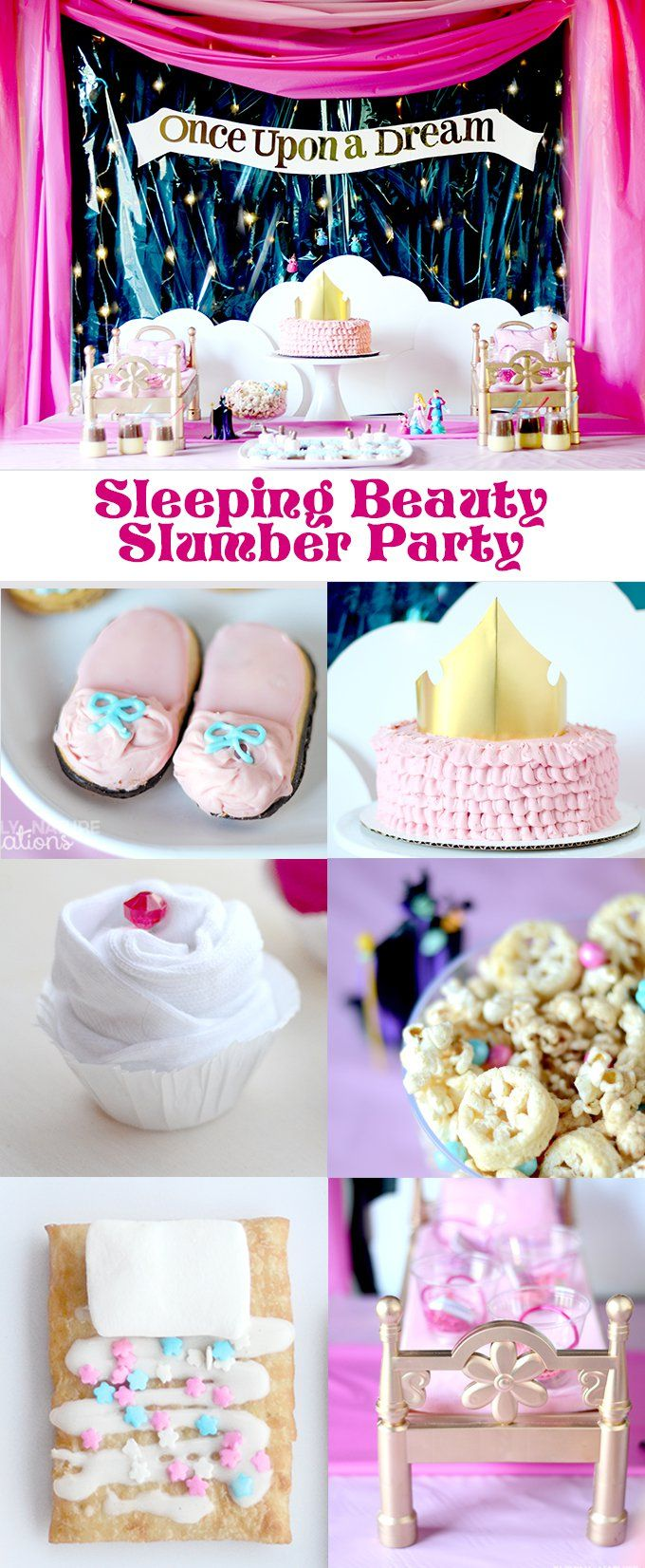 Sleeping Beauty Princess Slumber Party!  Best Slumber Party ideas with cute themed treats, games and decor! #DisneyBeauties #CollectiveBias #shop