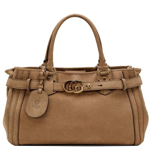 authentic Gucci GG Running Medium Tote 247183 Light Brown [Gucci-Outlet-Online_81] - $233.10 :