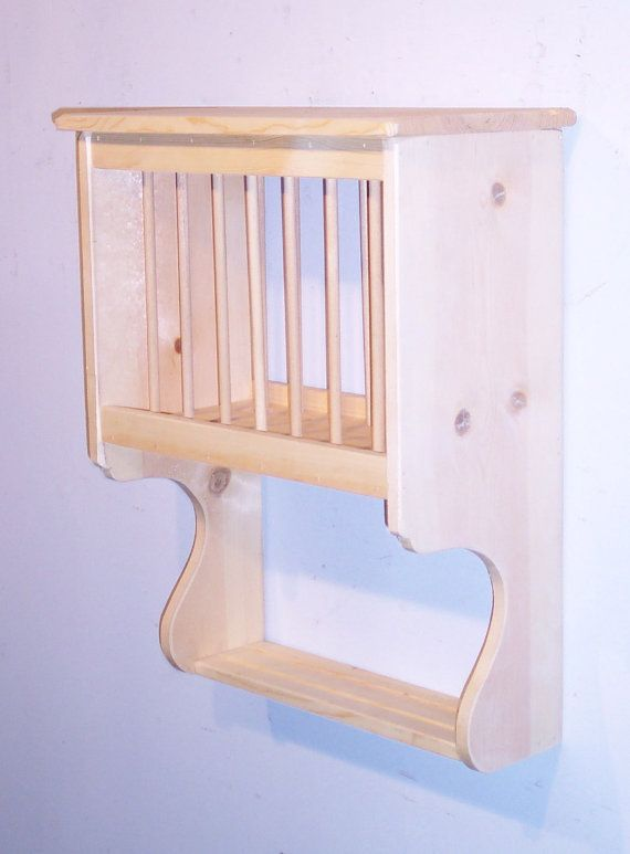 """Primitive Plate Rack with Dowels - 24"""" Wide - Color Choice - FREE SHIPPING"""