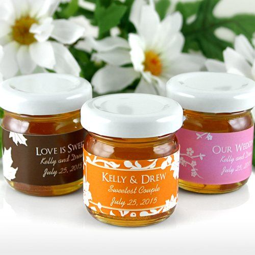 Personalized Silhouette Collection Honey Jar Favors by Beau-coup