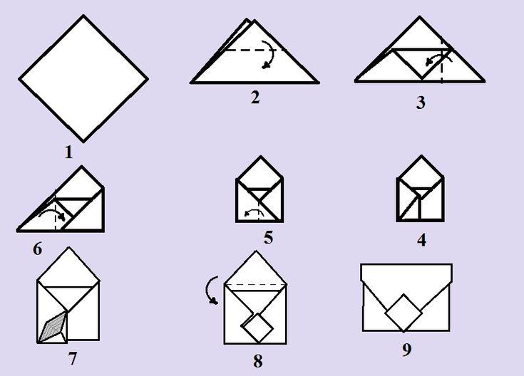 Как сделать конверт из бумаги А4 | Как Клуб