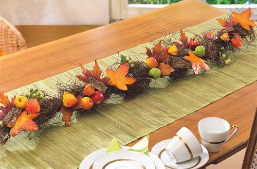 Décoration de table aux couleurs de l'automne