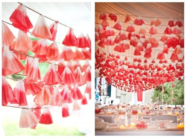 dip-dyed coffee filter garland