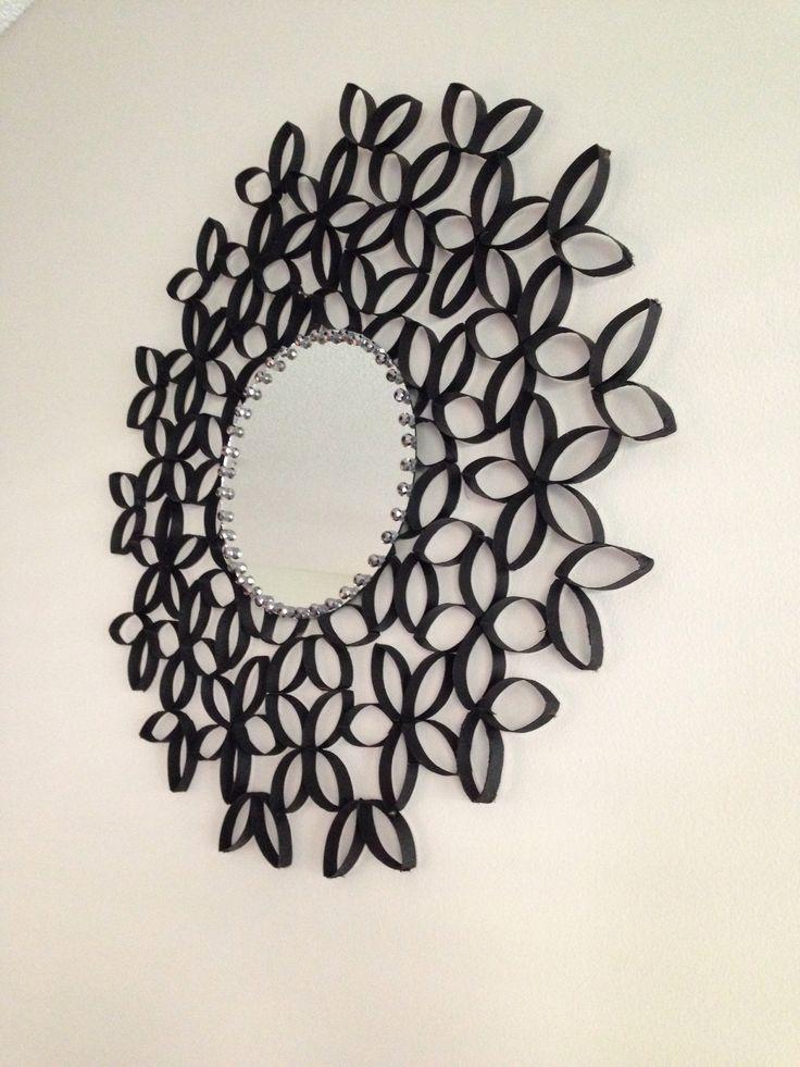 Toilet paper roll beaded sunburst mirror