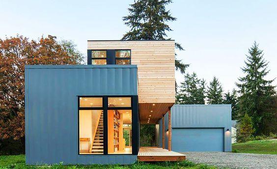 Affordable Modern Prefab Homes Design #modularhome #modernhome