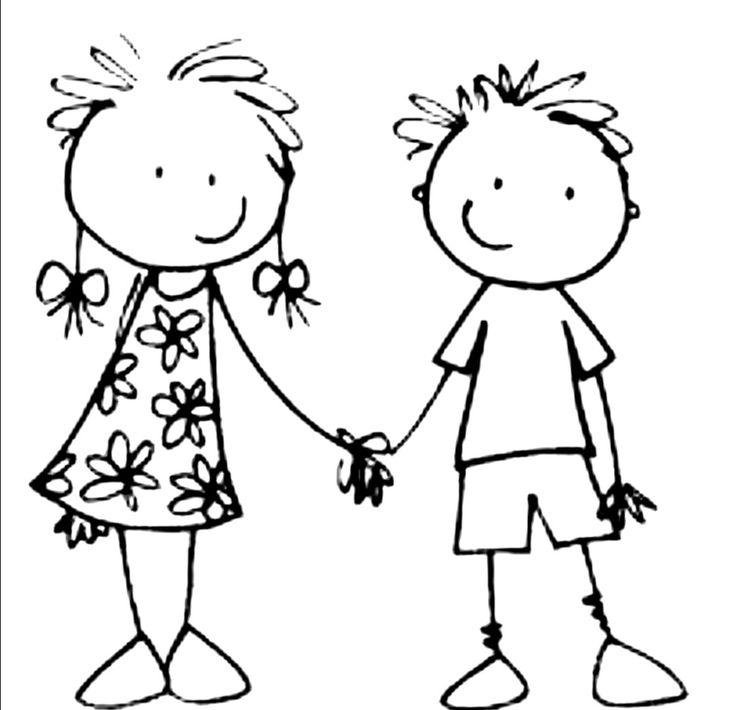 Мальчик и девочка рисовать картинки