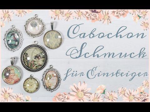 DIY Schmuck selber machen Ohrstecker mit Cabochons von Vintageparts - YouTube