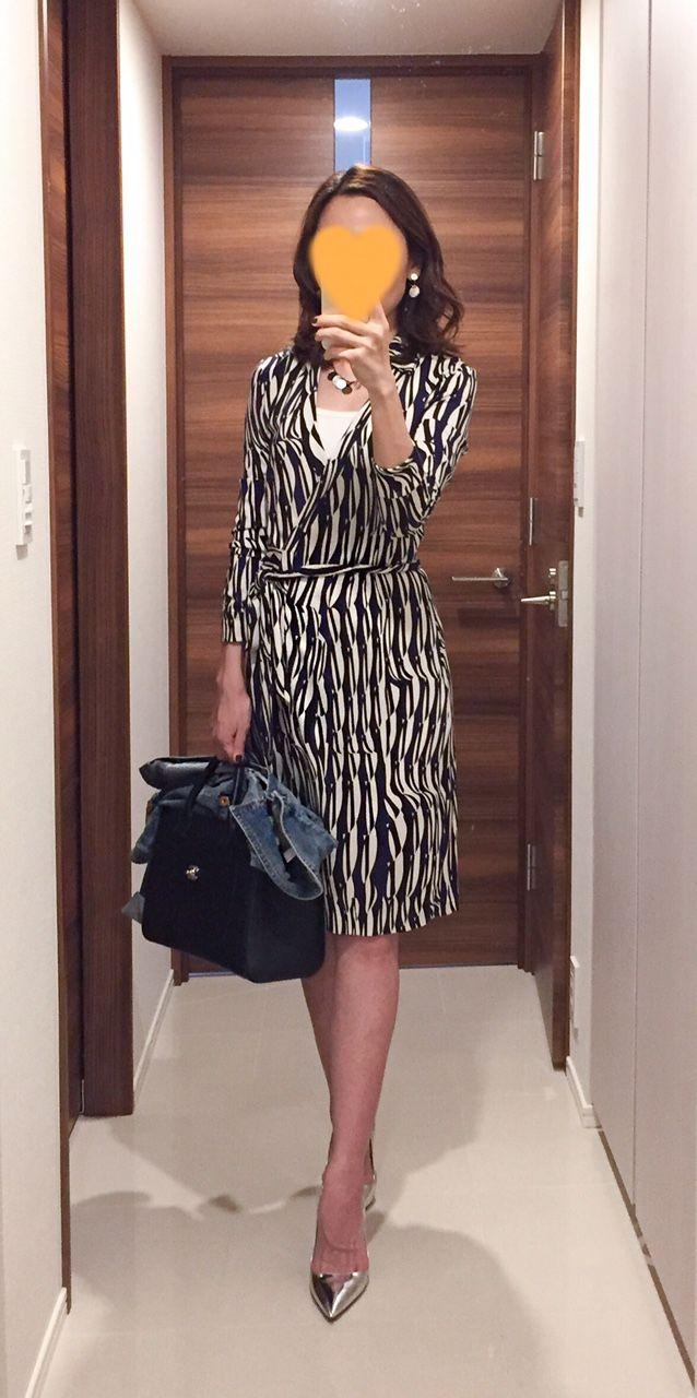 Dress: DFV Denim Jacket: H&M Bag: CHANEL Silver heels: PRADA