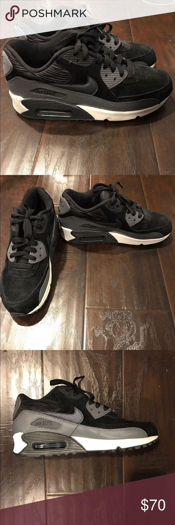 Nike Air Max 90 Black and gray Nike Air Max 90 Nike Shoes Athletic Shoes