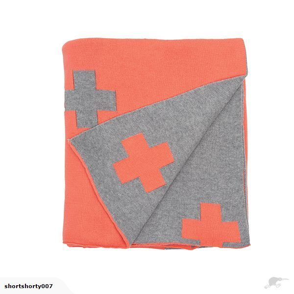 Coral Cross Knit Throw | Trade Me