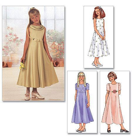Flower Girl Dress  Butterick 3714  Girls US Sizes: 7 by SunshineRd