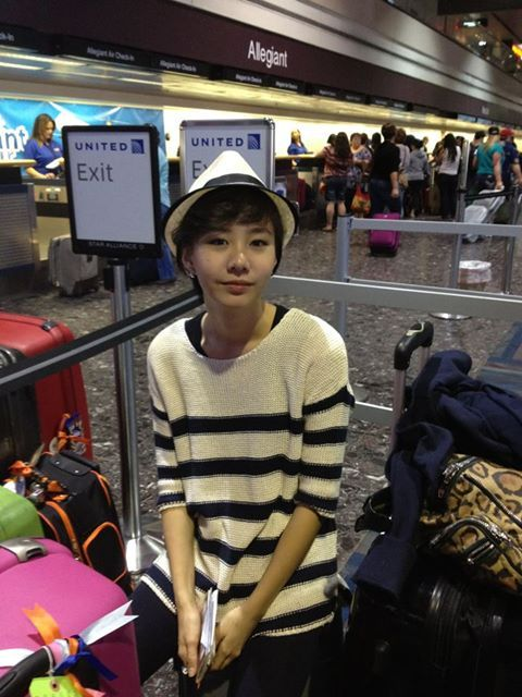 Toey at the airport