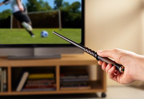 You could changing the channel with your Kymera Magic Wand Remote Control now. This is a product from The Wand Company. Let become a Sorcerer with magic in the house.