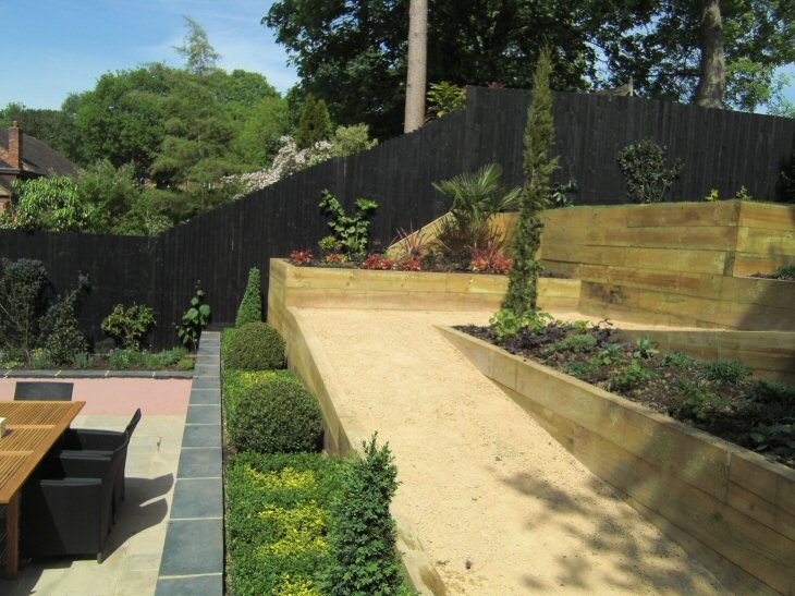 15 best lanscaping images on Pinterest | Back garden ideas, Sloped ...