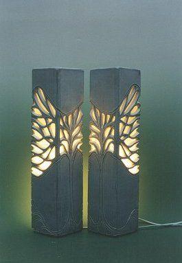 Ceramic wall lights by Ray Macro