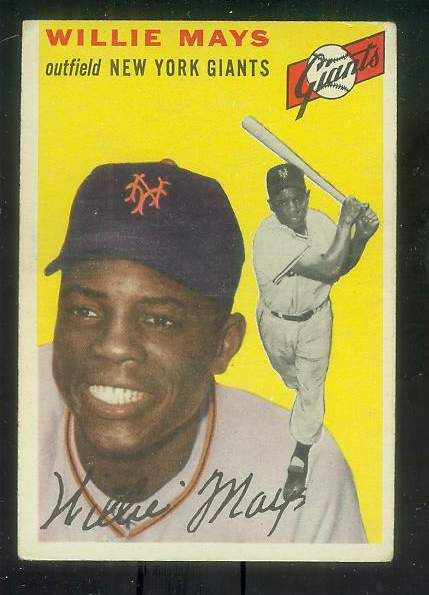 topps 1954 baseball cards | 1954 Topps #.90 Willie Mays [#c] (NY Giants)