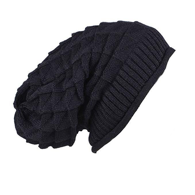 black ACVIP Womens Wool Knit Wide Beaded Twisted Cold Weather Headband