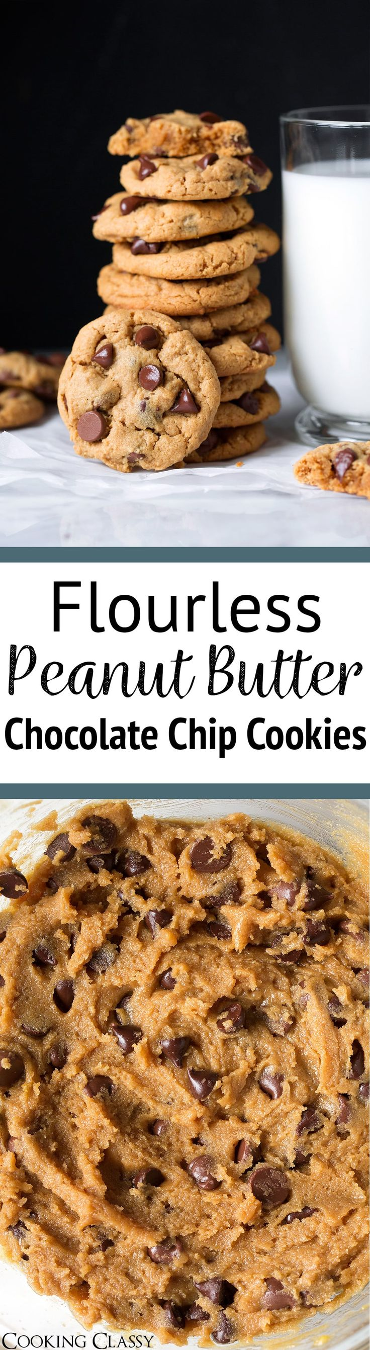 Flourless Peanut Butter Cookies - These are the easiest cookies to make! They only need 6 ingredients that you likely always have on hand, a few minutes prep, and no mixer is required. And did I mention they taste absolutely delicious? Likely to become a family favorite! #flourless #peanutbuttercookies #dessert #cookies #easyrecipe