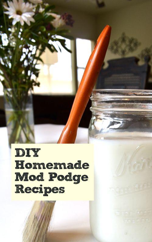 Homemade Mod Podge Recipes