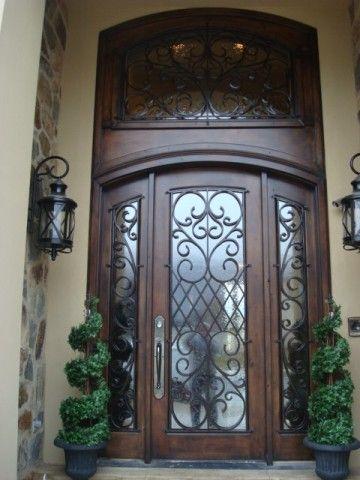 Tuscan Front Door Wrought Iron Pinterest