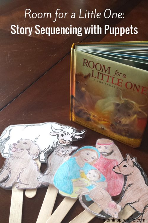 Room for a Little One Story Sequencing with Puppets. Beautiful Christmas book and literacy extension activity.