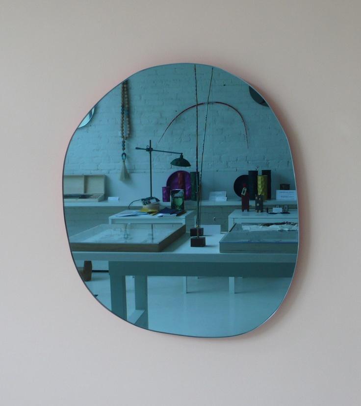 mc day glow frame mirror blue glass
