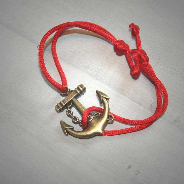 Slip Knot Nautical Anchor Bracelet!
