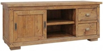 Camrose Reclaimed Pine Small TV Cabinet £290.00