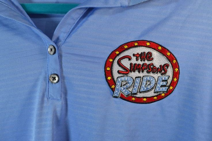 #TheSimpsons #Ride #UniversalStudios #Work #Uniform #Polo #Shirt womens embroidered #Antigua for sale in my ebay store
