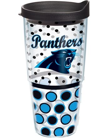 NFL® | Carolina Panthers | Polka Dot Wrap with Lid | Tumblers, Mugs, Cups | Tervis