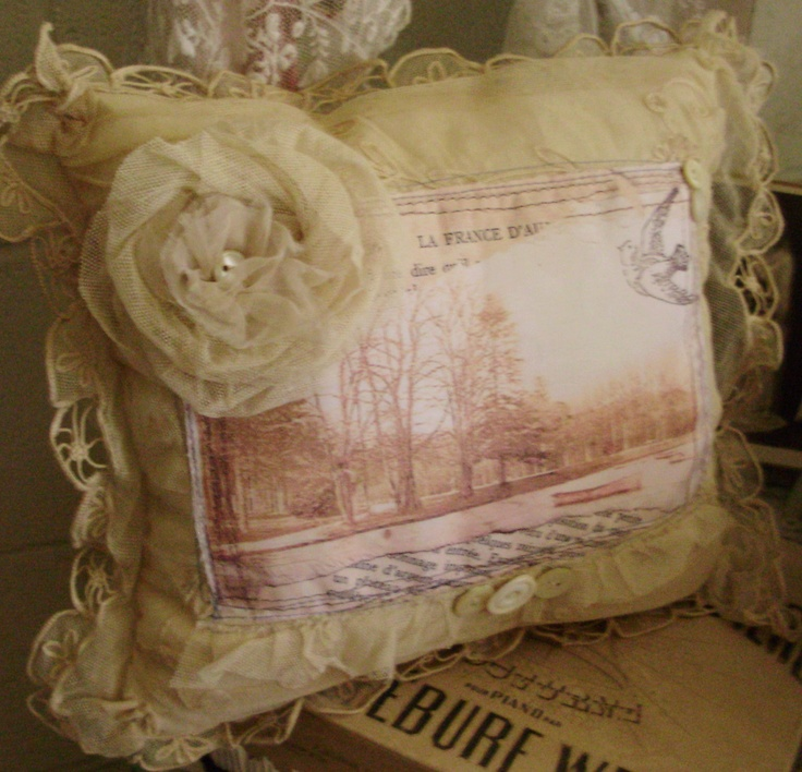 155 best images about Sweet Shabby Pillows on Pinterest
