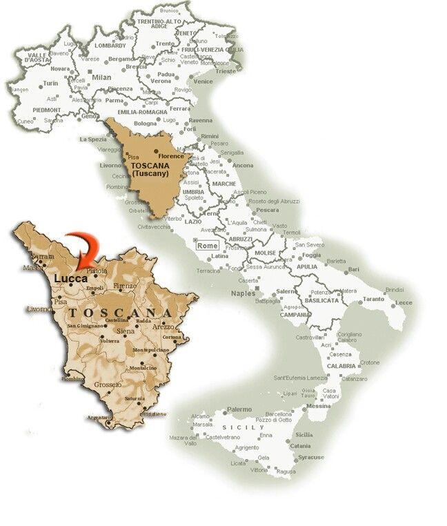 Lucca City in Toscana Region / Italy